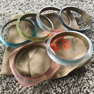 All Alexis Bittar lucite bangles bundle